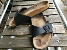 Birkenstock 'Madrid' Women's Slide Sandals Black Birko-Flor, EURO Size 39
