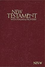 NIV Pocket New Testament with Psalms and Proverbs - Burgundy by Biblica Staff...