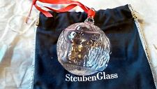 Steuben Glass Peace on Earth Crystal Christmas Ornament Brand New in the Box