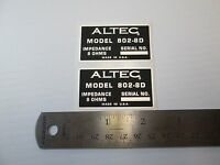"ALTEC 802-8D Horn Loudspeaker Driver  ""DECAL"" New!"