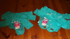 low rise thong pants / knickers, turquoise lace, women's wear choice of sizes
