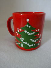 "Waechtersbach Christmas Tree Mug West Germany Red Coffee Tea Cup 3 7/8"" Vintage"
