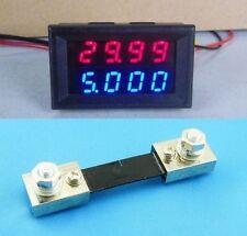 DC 100V 100A + Shunt 4 digital led Voltmeter & Amperemeter Spannung Strom Ampere