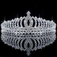 New Girls Lady Crystal Tiara Crown Wedding Bridal Bridesmaid Rhinestone Headband