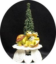 """IT""S ABOUT TIME"" Adorable Turtle Wedding Cake Topper Critter  top nature funny"