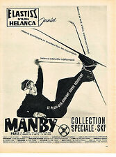 PUBLICITE ADVERTISING 044  1961  MANBY  vetements SPECIAL SKI
