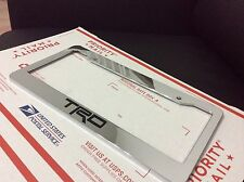 Chrome TOYOTA TRD Personalized Custom  License Plate Frame tag holder GIFT