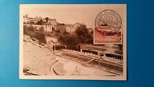 FRANCE CARTE MAXIMUM YVERT 1124 THEATRE FOURVIERE 20F LYON 1957 L 238