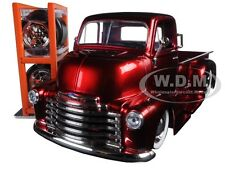 1952 CHEVROLET COE PICKUP TRUCK WITH EXTRA WHEELS RED 1/24 MODEL JADA 97225