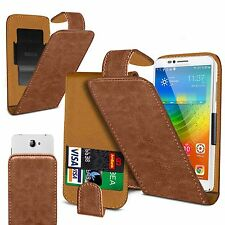 "For Aldi Medion Life E5005 5"" - Clip On PU Leather Flip Case Cover Pouch"