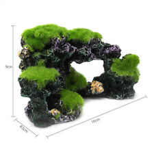 Aquarium Mountain Coral Reef Rock Cave Stone Moss Fish Tank Ornaments Decoration