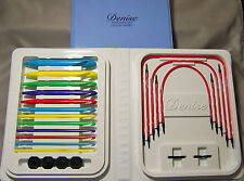 Primary Corlored Denise Interchangeable Crochet Hooks Kit Tunisian + Bonus Gift