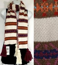 AMERICAN RAG Tribal Pattern Wool Blend Winter Scarf (One Size, Ivory Combo) NWT