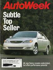 Autoweek Aug 27, 2001 - Toyota Camry - Mitsubishi Lancer  - Volkswagen Passat W8