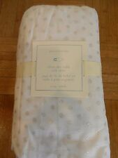 New Pottery Barn Kids Baby Silver Dot Tulle Crib Skirt Lace