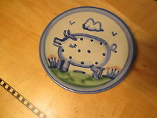 M A Hadley signed small pig pottery dish
