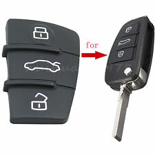 2x 3 Button Replacement Repair Fix Remote Key Rubber Pad For Audi A3 A4 A5 A6 A8