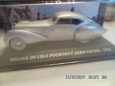 DELAGE D8 120S POURTOUT AERO COUPE 1938   IXO 1/43 G24