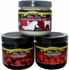 Walden Farms Strawberry & Rasberry Fruit Spreads and Marshmellow Dip - 3 Jars