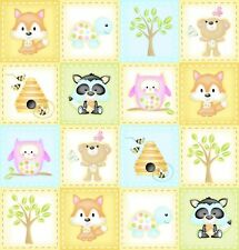 1 x Half Metre Length Woodland Cuties Mini Labels print fabric - 9973-41