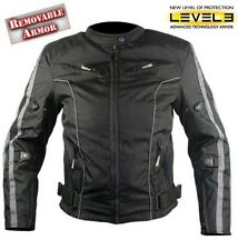 Xelement Ladies Black and Grey Vented Motorcycle Jacket Level-3 Armored L ~