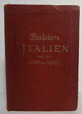 BAEDEKER Italia dalle Alpi fino a Napoli 1931