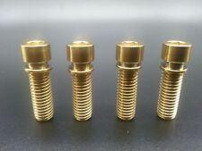 4Pcs/lot Titanium Ti Golden BMX Stem M8x25 Bolts Allen Hex Head Screw Washer