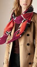 NWT BURBERRY PRORSUM $995 INSECTS OF BRITAIN 100% CASHMERE SCARF