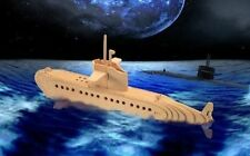 Submarine 3D Woodcraft Construction Kit - US SELLER FREE SHIPPING CONT US