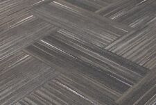 "SHAW Chevron Blur Touch of Gray Carpet Tiles 18"" x 36"""
