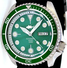 "Vintage SEIKO diver SKX 7S26 SEA-GREEN Mother Of Pearl ""TUNA"" dial & GREEN bezel"
