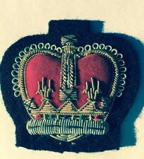 Vintage Gold Bullion Red Crown Sew On Patch