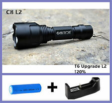 3800 Lumens C8 XM-L2 LED Tactical Flashlight Torch 5-Modes with battery+Charger