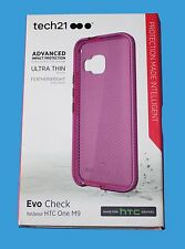 100%GENUINE Tech21 ULTRA THIN Evo Check Case for HTC One M9 -  Pink -  ***NEW***