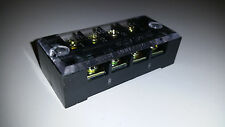 4 Position Terminal Block with Cover Ground Power Distribution Block wiring New