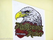 HARLEY DAVIDSON MOTORCYCLES BAR SHIELD EAGLE In Windshield Glass Decal Sticker