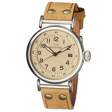 Glycine Men's 3933.15AT-LB7R F 104 Automatic Tan Dial Brown Leather Watch