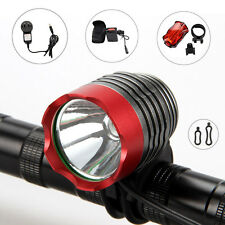 2000Lumen CREE XM-L T6 LED Torch Head Front Bicycle Bike Light Headlamp 12000mAh