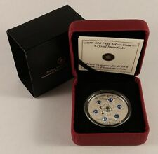 2008  $20 FINE SILVER COIN - SAPPHIRE CRYSTAL SNOWFLAKE