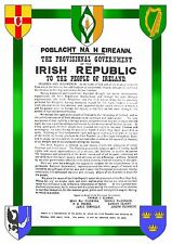 Proclamation Of The Republic - A4 Print - Eire Ireland 1916 Easter Rising