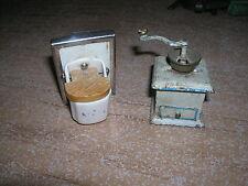 Puppenküchen / Puppenstuben Zubehör - Versch. Teile - ca. 20er-/40er Jahre (7)