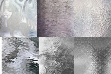 (12) 8 x 10 Clear Glass Texture Variety Pack Stained Glass Sheets Supplies