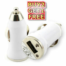 White Universal Mini Car USB Charger for iPod iPhone PDA iPhone 5 5G 5C