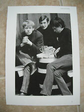 Rolling Stones Group Vtg Candid Coffee Table Book Photo B&W #3