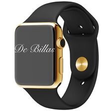 42MM Apple Watch 24K Gold Plated W/OEM Black Sport Band