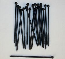 "6"" Log Home Screws OlyLog Black Lot of 20 Wood Hex Head Coated Steel Timber New"