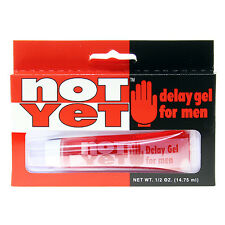 NOT YET! DELAY GEL Cream Sex Aid LAST LONGER MALE STUD ENHANCER for MEN