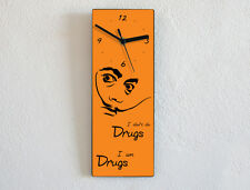 Salvador Dali Quotes - I don't do drugs, I am drugs - Wall Clock