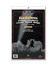 """1 Pack of 100 BCW Golden Age 8"""" Thick Comic Book Storage Bags Sleeves"""