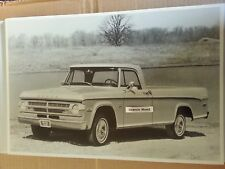 """12 By 18"""" Black & White PICTURE of 1970 Dodge Adventurer Pickup Truck"""